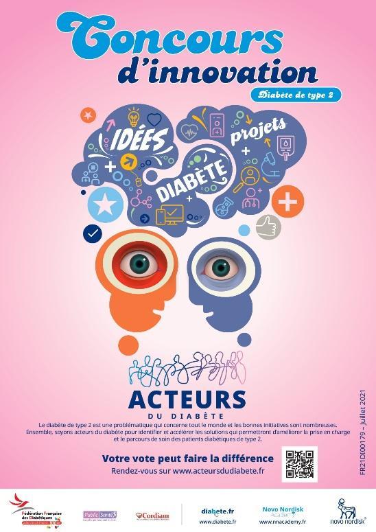 Affiche de présentation du concours Acteurs du Diabète 2021